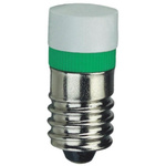 LED Reflector Bulb, E10, Green, Single Chip, 9.7mm dia.