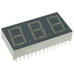 BC56-11SYKWA Kingbright 3 Digit 7-Segment LED Display, CC Yellow 120 mcd RH DP 14.2mm
