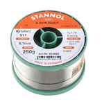 Stannol 0.7mm Wire Lead Free Solder, +227°C Melting Point