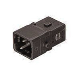 HARTING Han 1A Heavy Duty Power Connector Insert, 2 contacts, 10A, Male
