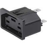 Schurter Panel Mount IEC Connector Socket, 6.5 → 8.8A, 400 → 294 V