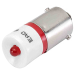 LED Reflector Bulb, BA9s, Red, Single Chip, 10mm dia., 24 V ac, 24V dc