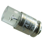 LED Reflector Bulb, Midget Groove, Yellow, Single Chip, 4.9mm dia., 24 → 28V dc