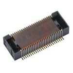 KYOCERA, 5846 0.4mm Pitch 50 Way 2 Row Right Angle PCB Socket, Surface Mount, Screw, Solder Termination