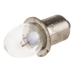 Vacuum Replacement Torch Bulb, Standard Bayonet, 2.4 V, 500 mA for T6