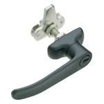 Southco Panel to Tongue Depth 32mm Black Locking Latch, Key to unlock
