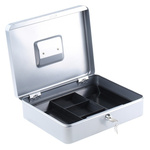 Large Silver Steel Cash Box 300x245x90