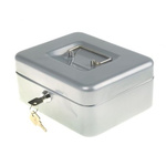 Small Silver Steel Cash Box 200x165x90