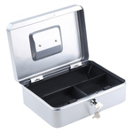Medium Silver Steel Cash Box 250x185x90