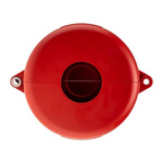 Brady 6.5mm Shackle PP Gate Valve Lockout, 165mm Attachment Point- Red