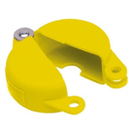 Brady 6.5mm Shackle PP Gate Valve Lockout, 165mm Attachment Point- Yellow