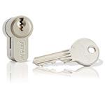 Dom Metalux Steel Euro Cylinder Lock, 30/60 (90)