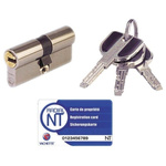 Vachette Brass Euro Cylinder Lock, 32.5 x 32.5 mm