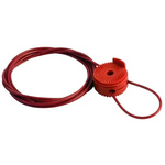 Brady Cable Valve Lockout- Red