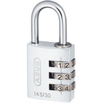 ABUS 145/30 Silver All Weather Aluminium, Steel Safety Padlock 30mm