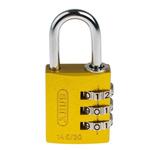 ABUS 145/30 Yellow All Weather Aluminium, Steel Safety Padlock 30mm