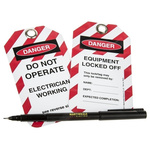 10 x 'Do Not Operate, Electrician Working, Equipment Locked Off' Lockout Tag