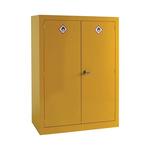 RS PRO Yellow Lockable 2 Doors Hazardous Substance Cabinet, 1535mm x 1m x 560mm
