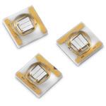15335338AA350 Wurth Elektronik, WL-SUMW Series UV LED, 385 (Typ.)nm 850mW 130 (Typ.) °, 2-Pin Surface Mount package