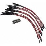 410-349, 200mm Breadboard Jumper Wire in Black, Red