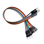 4110-40, 200mm Jumper Wire Breadboard Jumper Wire in Black, Blue, Red, White, Yellow