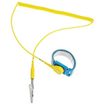 RS PRO 10mm Stud ESD Grounding Wrist Strap & Cord Set 1.8m Length Cord