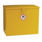 RS PRO Yellow Steel Lockable 1 Doors Hazardous Substance Cabinet, 510mm x 620mm x 330mm