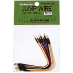 SPP-100, 100mm Insulated Tinned Copper Breadboard Jumper Wire in Black, Blue, Red, White, Yellow