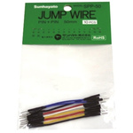 SPP-50, 50mm Insulated Tinned Copper Breadboard Jumper Wire in Black, Blue, Red, White, Yellow
