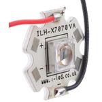 ILH-XT01-S365-SC211-WIR200. Intelligent LED Solutions, T7070 1 Powerstar Series UV LED, 370nm 1200mW 65 °, 4-Pin