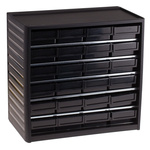 RS PRO 24 Drawer ESD Cabinet, 290 x 310 x 180mm