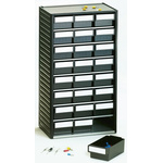 RS PRO 24 Drawer ESD Cabinet, 550 x 310 x 180mm
