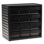 RS PRO 12 Drawer ESD Cabinet, 290 x 310 x 180mm