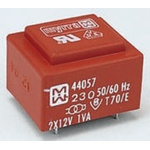 18V ac 2 Output Through Hole PCB Transformer, 1VA