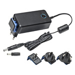 Mascot, 28W AC DC Adapter 18V dc, 1.55A, 1 Output Power Adapter, 2 Pin IEC 320 C8, Australia, European Plug, UK, US