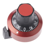 Atoms Potentiometer Knob, Dial Type, Red