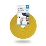 VELCRO® One-Wrap VEL-OW64104 Yellow Hook & Loop Tape, 10mm x 25m