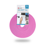 VELCRO® One-Wrap VEL-OW64109 Pink Hook & Loop Tape, 10mm x 25m