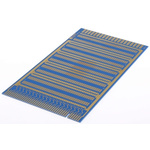 """10-0145, Double-Sided Stripboard Epoxy Glass 203 x 114 x 1.6mm 0.1"""" Pitch Direct Edge Card Connection FR4"""