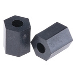 R1811B91, 8mm High Glass Fibre Reinforced PET Hex Spacer 6.35mm Wide, with 2.95mm Bore Diameter for M3 Screw