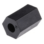 R1812-91, 10mm High Glass Fibre Reinforced PET Hex Spacer 6.35mm Wide, with 2.95mm Bore Diameter for M3 Screw