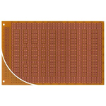 RE315-HP, Single Sided DIN 41612 C Eurocard PCB FR2 1mm Holes, 2.54 x 2.54mm Pitch, 160 x 100 x 1.5mm