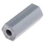 HS-6-5, 15.9mm High CPVC Hex Spacer 6.4mm Wide, with 2.8mm Bore Diameter for M3, No.6 Screw