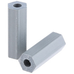HS 6 6, 19.1mm High CPVC Hex Spacer 6.4mm Wide, With 2.8mm Bore Diameter for M3, No.6 Screw