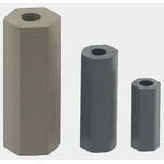 HS 8 6, 19.1mm High CPVC Hex Spacer 9.5mm Wide, With 3.6mm Bore Diameter for M4, No.8 Screw
