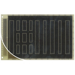 RE315-LF, Single Sided DIN 41612 C Eurocard PCB FR4 1mm Holes, 2.54 x 2.54mm Pitch, 160 x 100 x 1.5mm