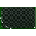 RE440-LF, Double Sided DIN 41652 C Eurocard PCB FR4 0.8mm Holes, 2.54 x 2.54mm Pitch, 160 x 100 x 1.5mm