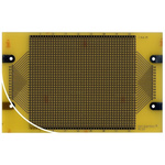 RE225-LF, Single Sided DIN 41652 Eurocard PCB FR4 With 35 x 42 1mm Holes, 2.54 x 2.54mm Pitch, 160 x 100 x 1.5mm