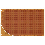 RE120-HP, Single Sided DIN 41617 Eurocard PCB FR2 With 37 x 58 1mm Holes, 2.5 x 2.5mm Pitch, 160 x 100 x 1.5mm