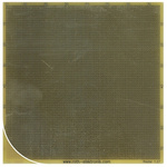 RE014-LF, Single Sided Matrix Board FR4 with 75 x 75 0.45mm Holes, 1.27 x 1.27mm Pitch, 99.69 x 99.06 x 1.5mm